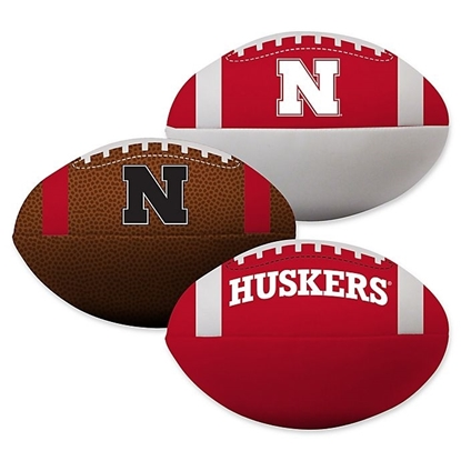 Picture of Nebraska Rawlings Softee 3 Ball Set