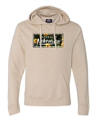 Picture of Naturally Nebraska Daisies Triblend Hoodie