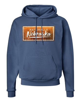 Picture of Naturally Nebraska Golden Grain Cotton Hoodie
