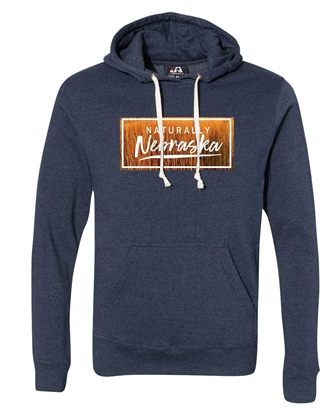 Picture of Naturally Nebraska Golden Grain Triblend Hoodie
