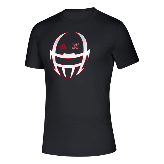 Picture of Nebraska Adidas® Locker Chromed Helmet Creator Short Sleeve Shirt