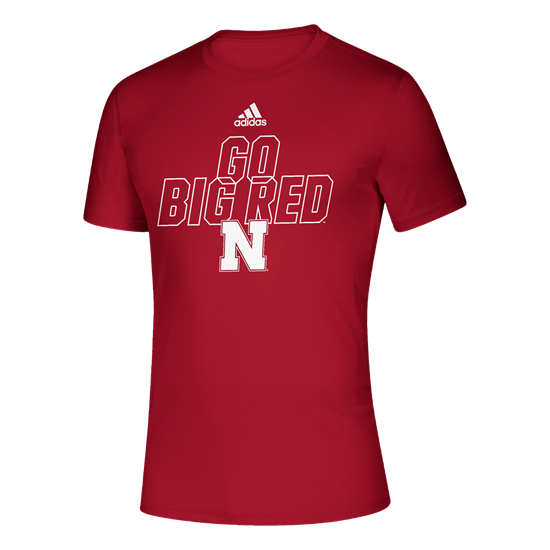 Picture of Nebraska Adidas® Locker Motto Creator Short Sleeve Shirt