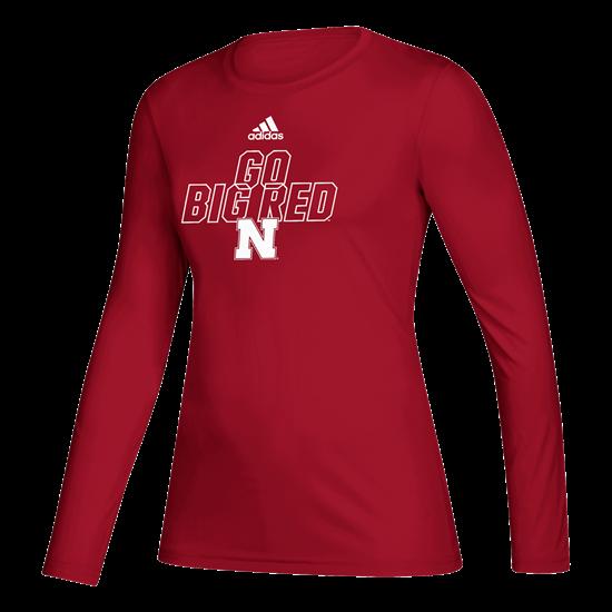 Picture of Nebraska Adidas® Ladies Locker Motto Creator Long Sleeve Shirt