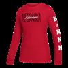 Picture of Nebraska Adidas® Ladies Split Script Amplifier Long Sleeve Shirt