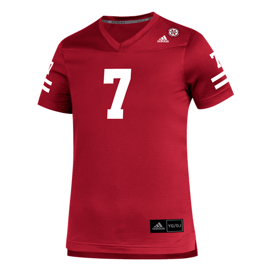 Picture of Nebraska Adidas® Youth #7 Replica Football Jersey