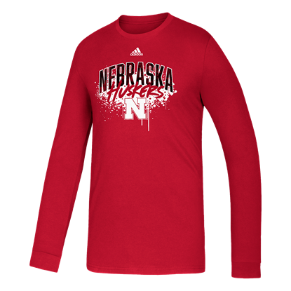 Picture of Nebraska Adidas® Youth Playmaker Amplifier Long Sleeve Shirt
