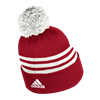 Picture of Nebraska Adidas®  3 Stripe Cuffed Pom Beanie
