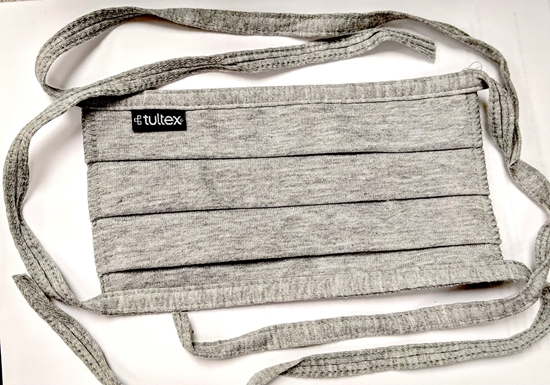 Picture of Blank Cotton Pleated Tie Face Mask