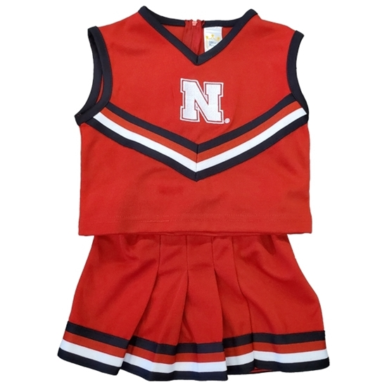Picture of Nebraska Colosseum® Toddler Cheerleading Set