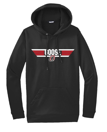 """Picture of Goose """"O"""" Cotton Hooded Sweatshirt (UNO-053)"""