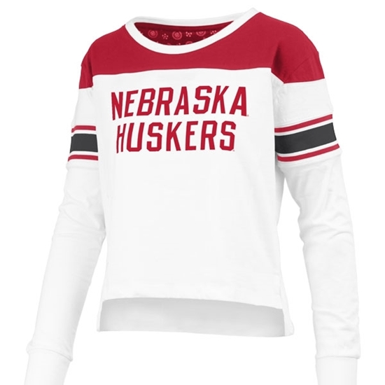 Picture of Nebraska Pressbox®  Ladies Kaia Long Sleeve Shirt