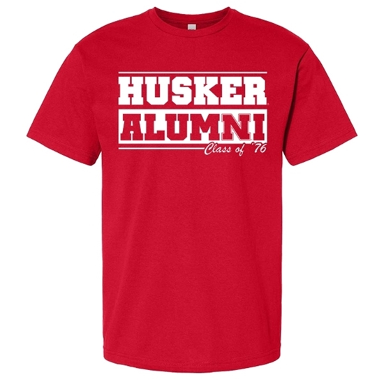 Picture of **PERSONALIZE WITH GRAD YEAR!** Nebraska Alumni Soft Cotton Short Sleeve Shirt  (NU-264)