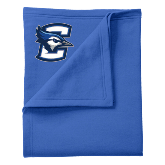 "Picture of Creighton Port & Company® Core Fleece Sweatshirt 50""x 60"" Blanket Royal"