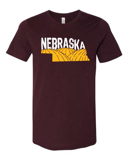 Picture of Nebraska Retro Cornfields T-shirt