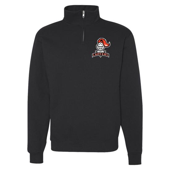 Picture of Lancers Cadet 1/4 Zip Fleece Sweatshirt Black